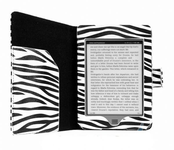 Zebra Print Kindle Touch Case
